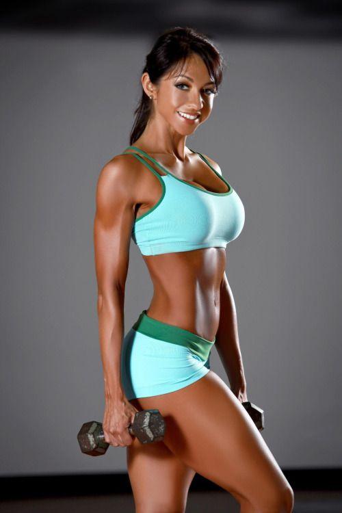 Busty female athlete