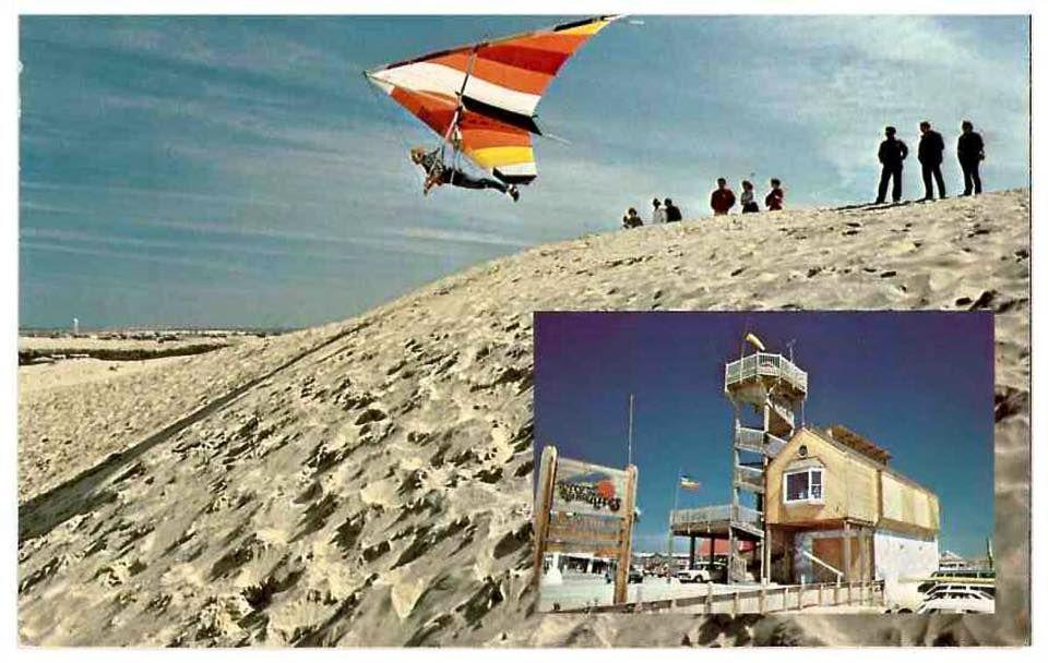 Kitty Hawk Kites vintage postcard - the way I remember it
