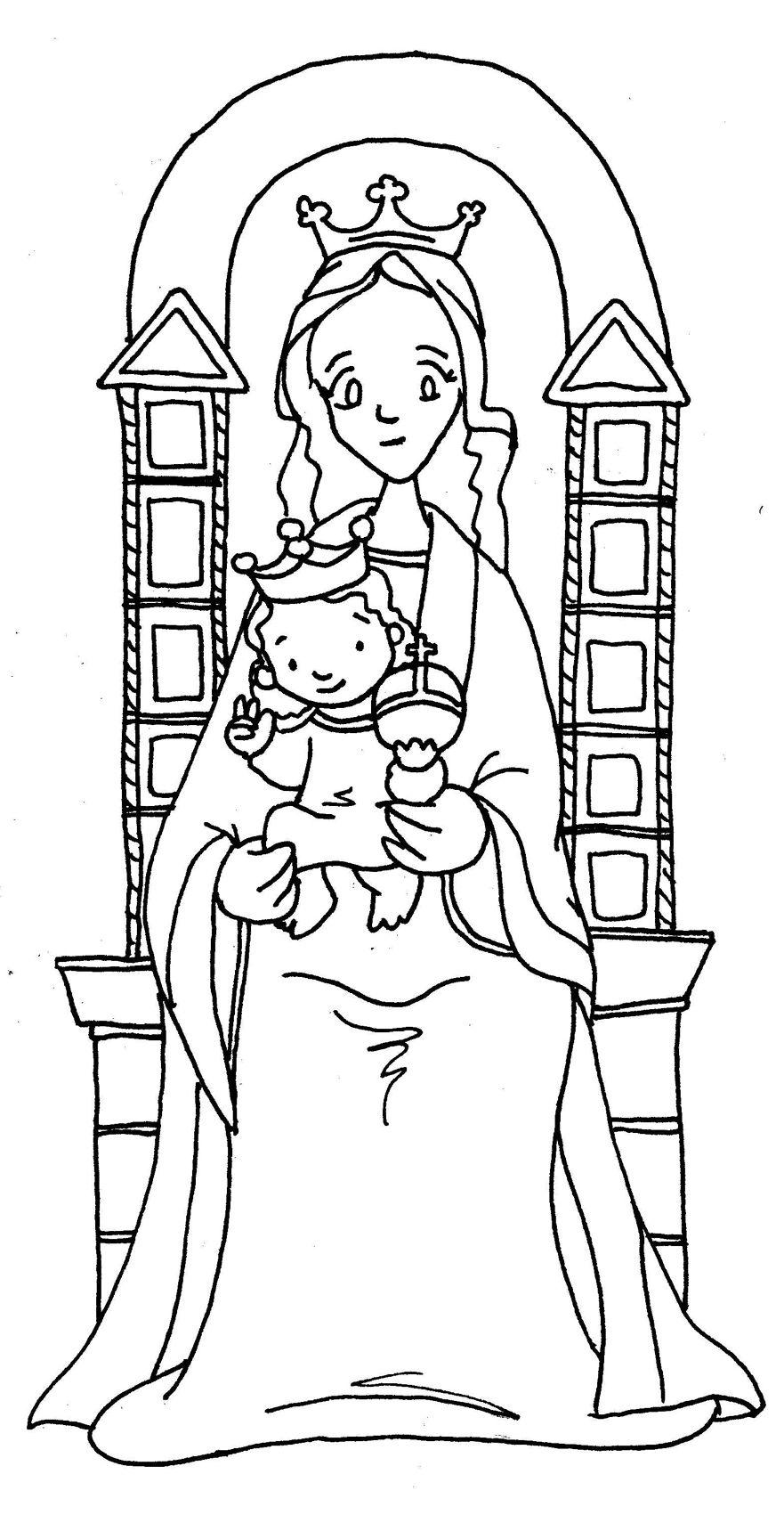 VIRGEN DE COROMOTO para pintar. | Virgen María | Pinterest ...