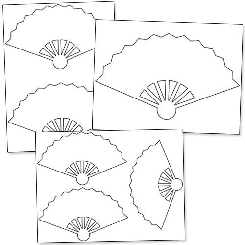 printable hand fan template from printabletreats com shapes and