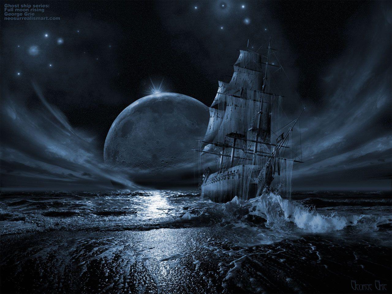Ghost ship series: Full moon rising