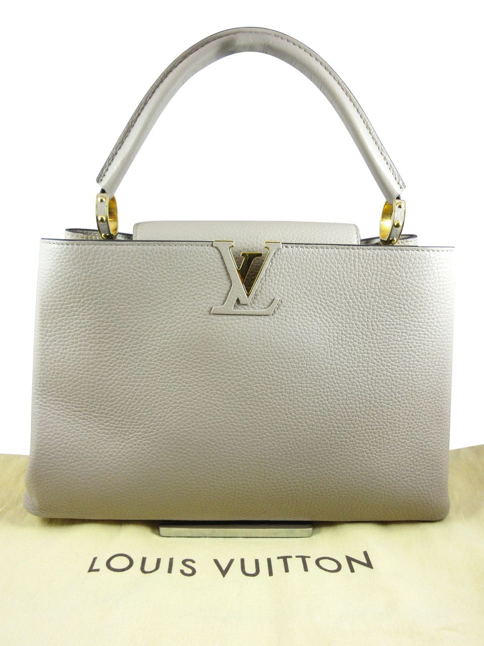 7d25e87aae Louis Vuitton Capucines MM Taurillon Leather Bag (P1) - Keeks Buy + Sell Designer  Handbags