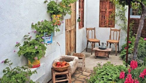 Italian Courtyard Garden Design | Home Remedies | Pinterest ...