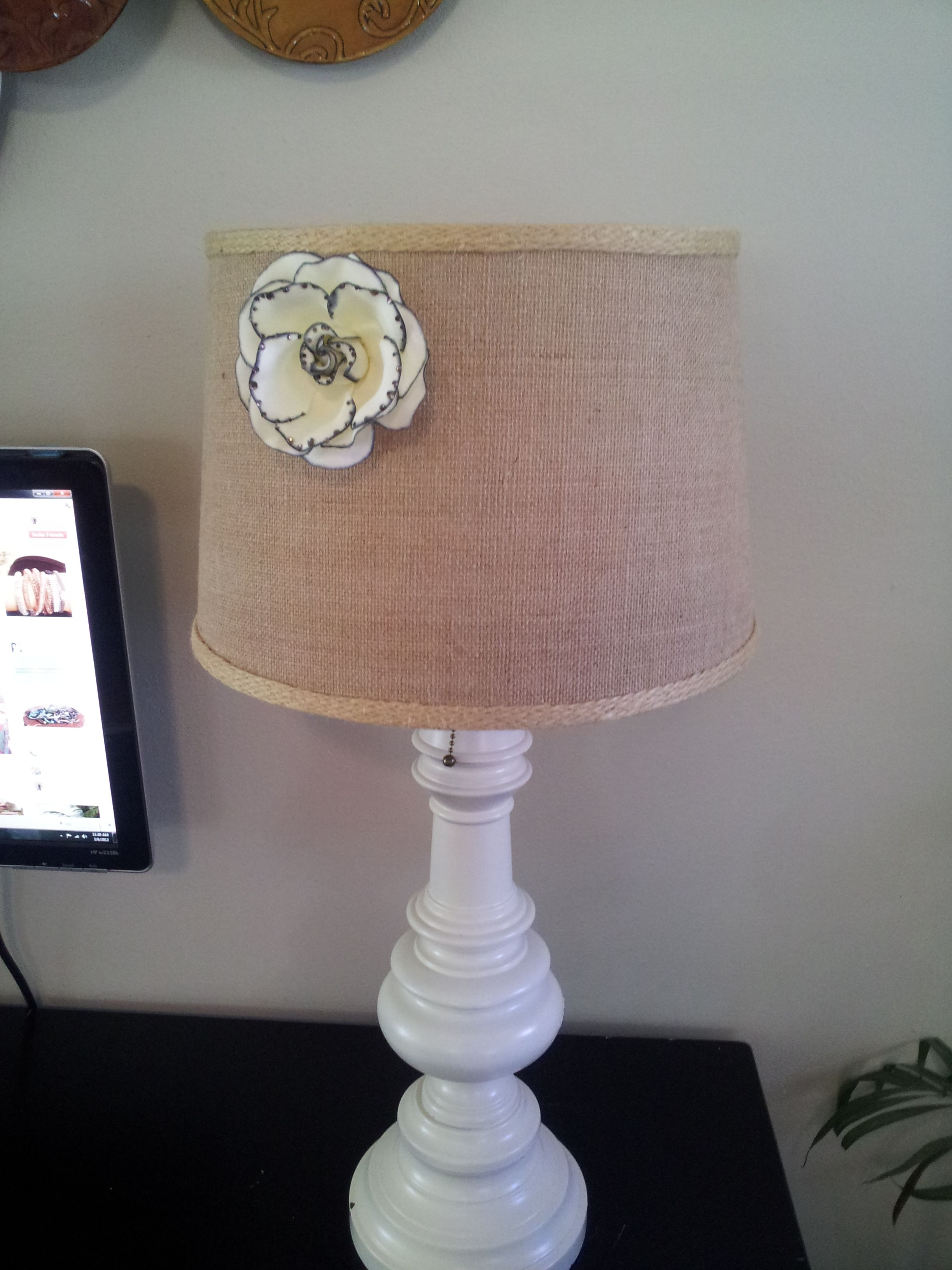 Hobby Lobby Lamp Shades Pleasing Took A Cute Flower Barrette I Found At Hobby Lobby And Hot Glued It Design Inspiration