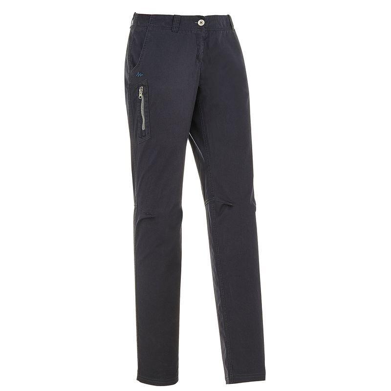 80c06c53dc Hiking Abbigliamento - Pantaloni montagna donna ARPENAZ 100 grigi QUECHUA -  Parte bassa