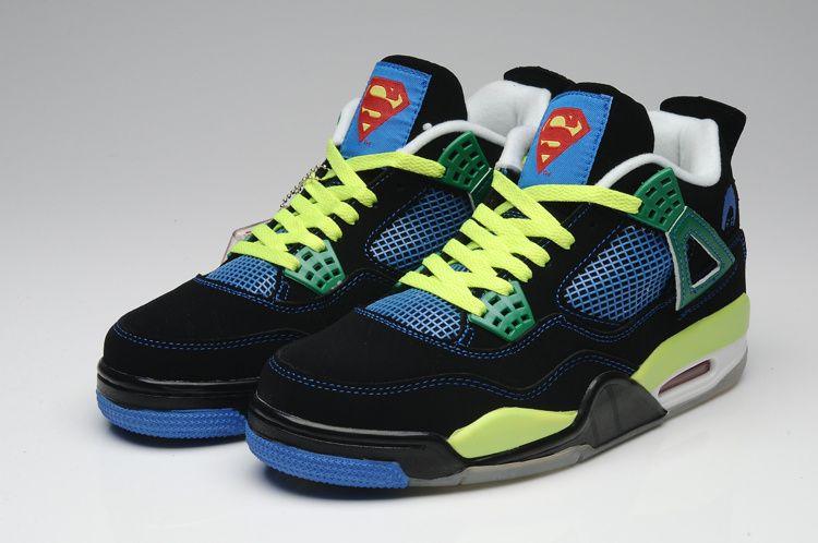 the latest 51d54 79c50 superman nike shoes   ... Jordan 4 Men Shoes    Nike Air Jordan 4 Men Shoes  Superman Black Green