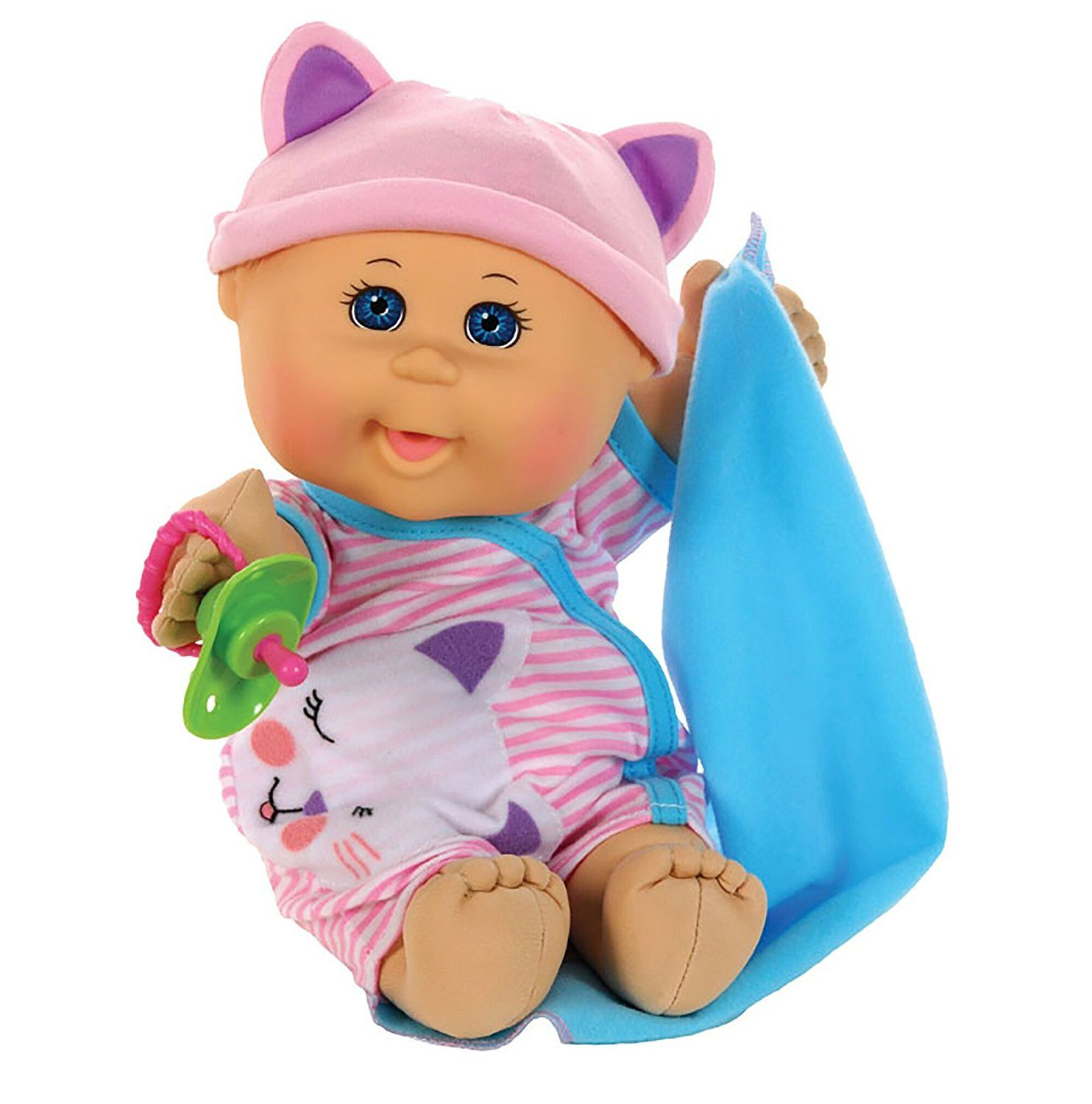 Cabbage Patch Kids 12 5 Naptime Babies Bald Blue Eye Girl Baby Doll Pink Stripe Jumper Fashion Toys Games Cabbage Patch Dolls