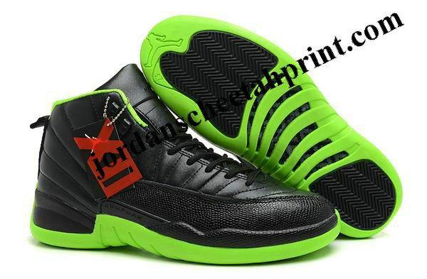Black · New Air Jordan 12 Bred Black/Green ...