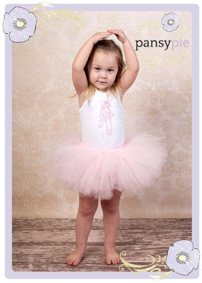 Pale Pink Tutu Ballerina Outfit Baby Toddler 9 By PansyPieBoutique 3299