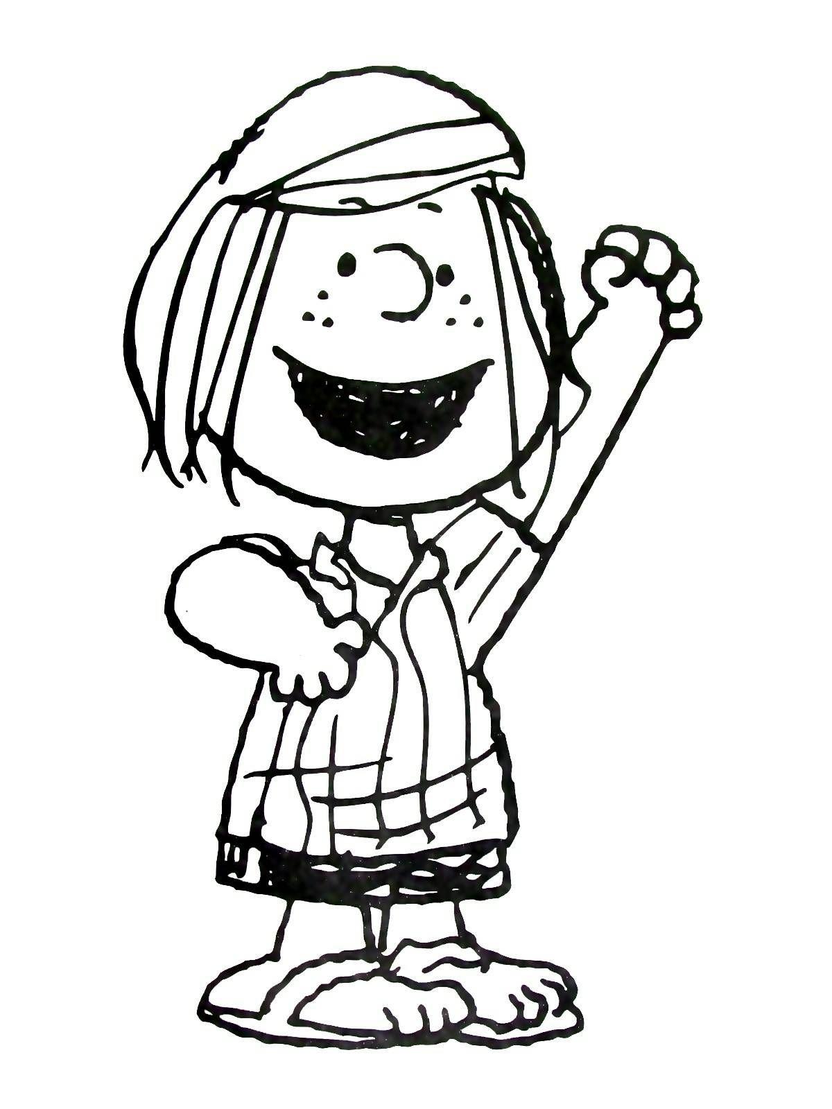The Peanuts Gang Coloring Book Page Printable | Peanuts Coloring ...