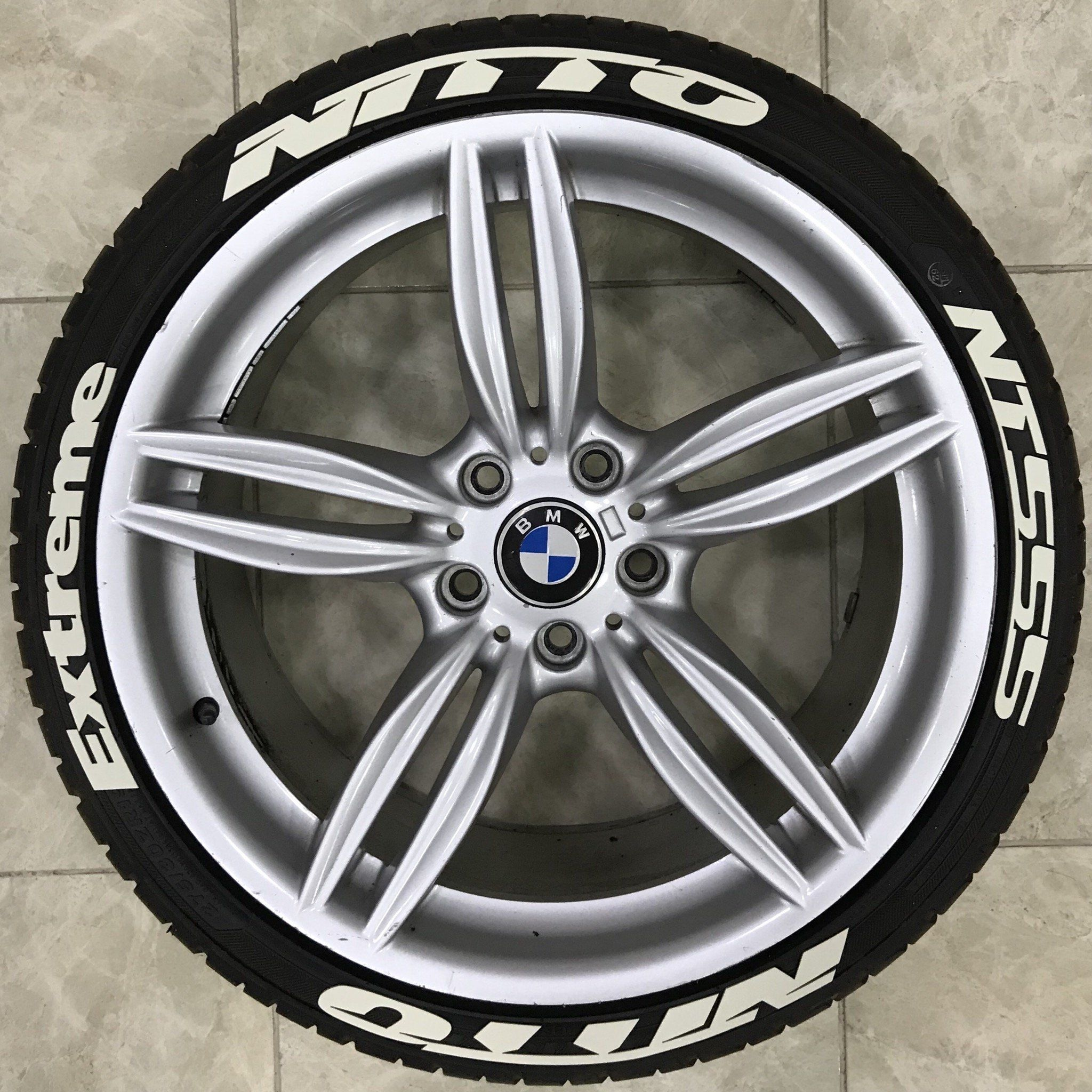 Nitto Tires With White Lettering >> 1 Nitto Nt555 Extreme Permanent Rubber Tire Letter 16 Pcs