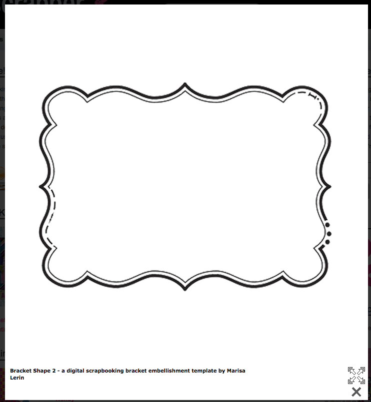 bracket shape free templates cards envelopes pinterest