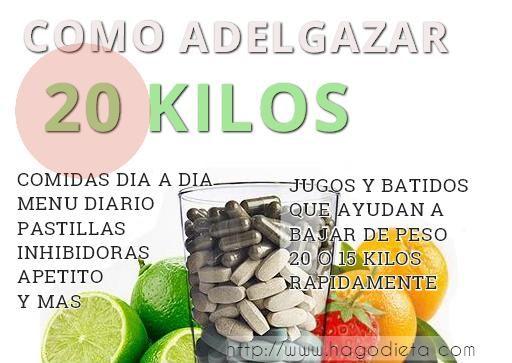 Como adelgazar rapidamente 20 kilos
