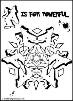 Livre Coloring Page de Motivational Mandalas Graffiti Coloring Book ...