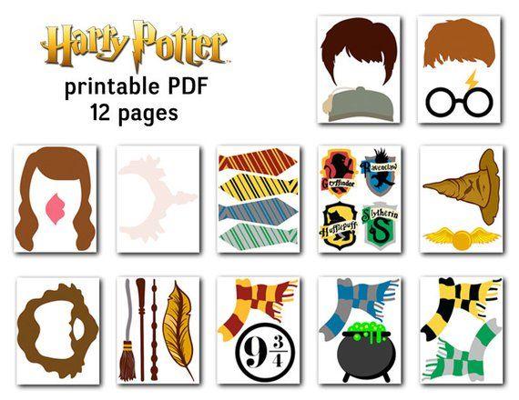 graphic regarding Harry Potter Printable Props named Printable Harry Potter Photograph Booth Props, Harry Potter