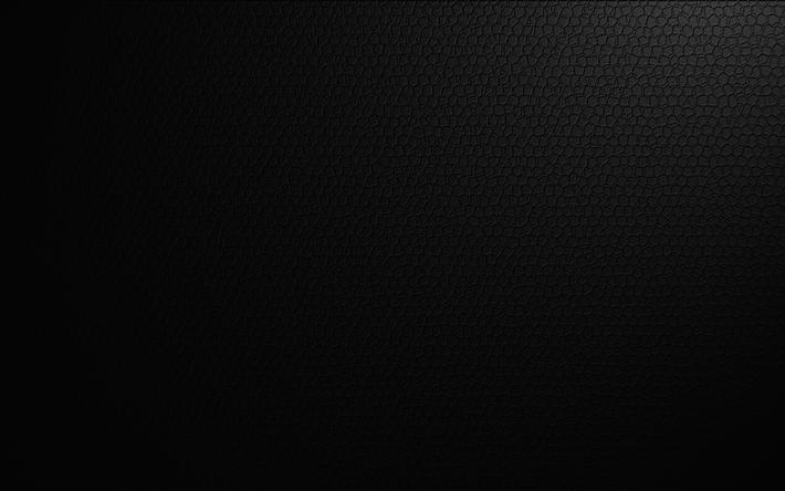 تحميل خلفيات الجلد الأسود 4k خلفية سوداء جلدية الملمس Besthqwallpapers Com Leather Texture Black Skin Black Backgrounds