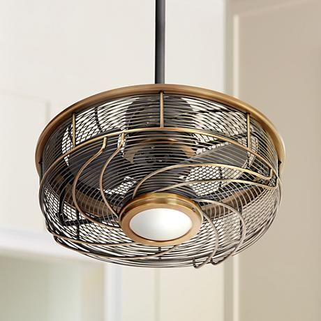 17 Casa Vestige Imperial Brass Cage Led Ceiling Fan Ceiling