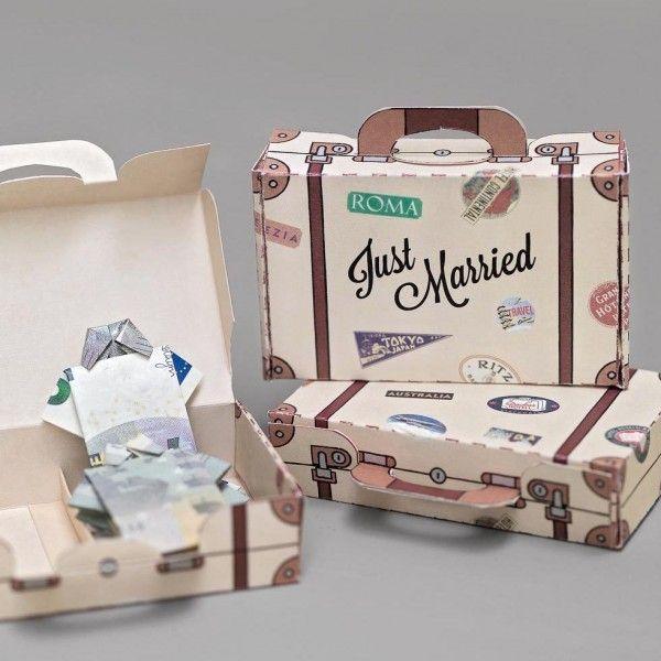 Geldgeschenk Hochzeit Vorlage Reisekoffer  Geldgeschenke
