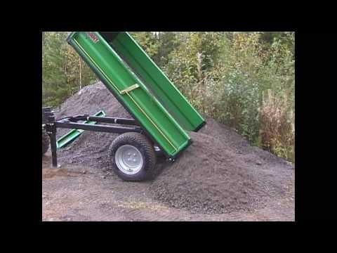 Hydraulic Dump Trailer For Farm Tractor Youtube Dump Trailers Farm Tractor Tractors