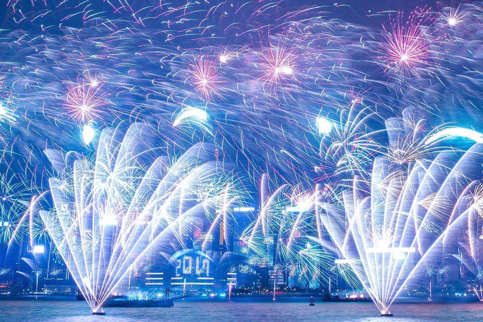Fireworks Illuminate The City S Skyline During Bochk Hong Kong New Year Countdown Celebratio New Year S Eve Around The World Celebration Around The World Photo