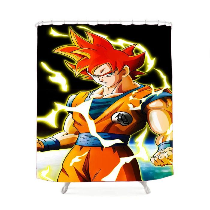 Dragon Ball Z Super Saiyan Goku Shower Curtain