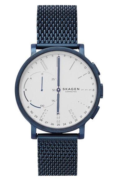 434f544de4519 Homens · Skagen Hagen Connected Mesh Strap Hybrid Smart Watch, 42mm  available at  Nordstrom Relógios Skagen