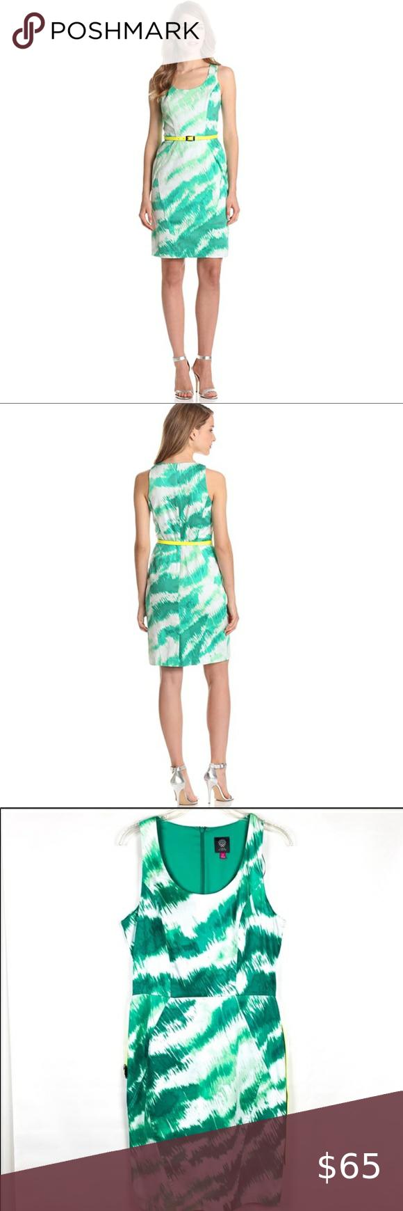 Vince Camuto Structured Sheath Dress Feline Green Sheath Dress Sleeveless Sheath Dress Dresses [ 1740 x 580 Pixel ]
