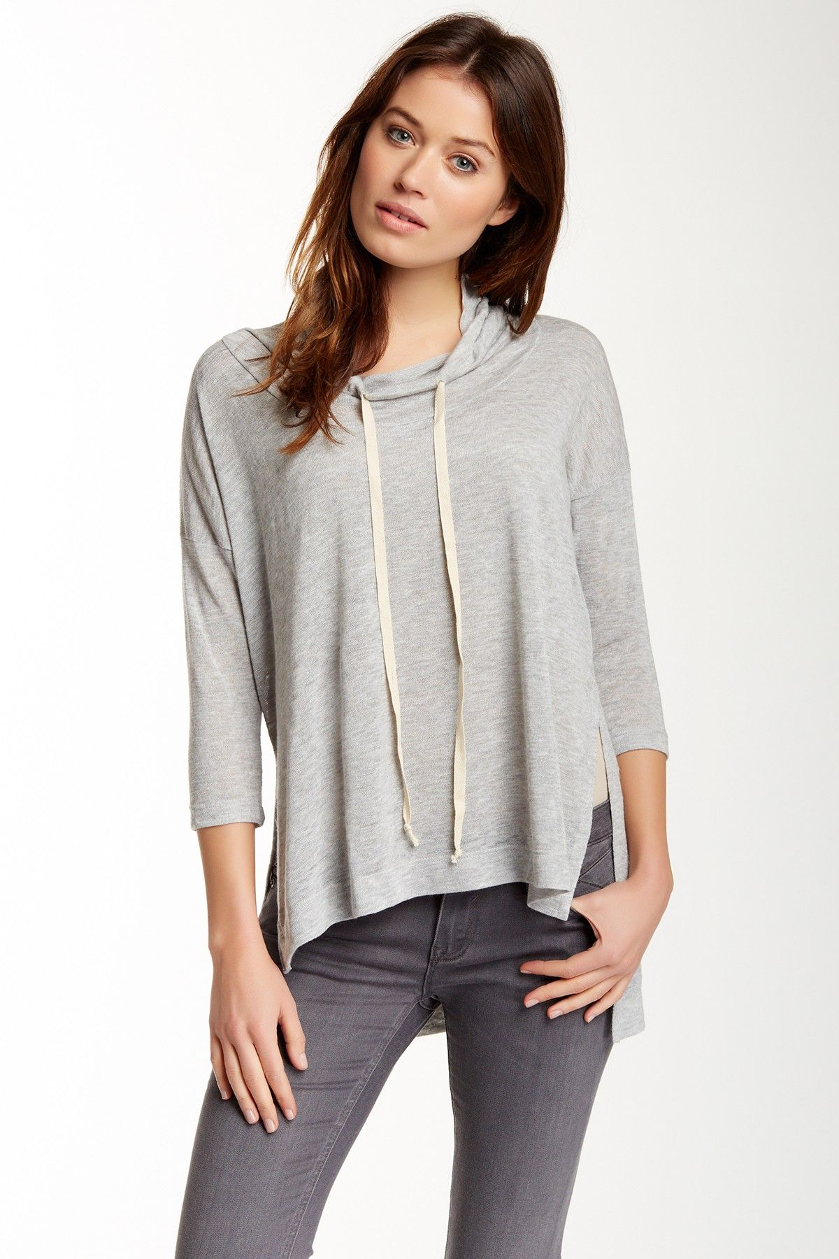 H.I.P. | Cowl Neck Hooded Sweater | Cowl neck, Cowl neck sweaters ...