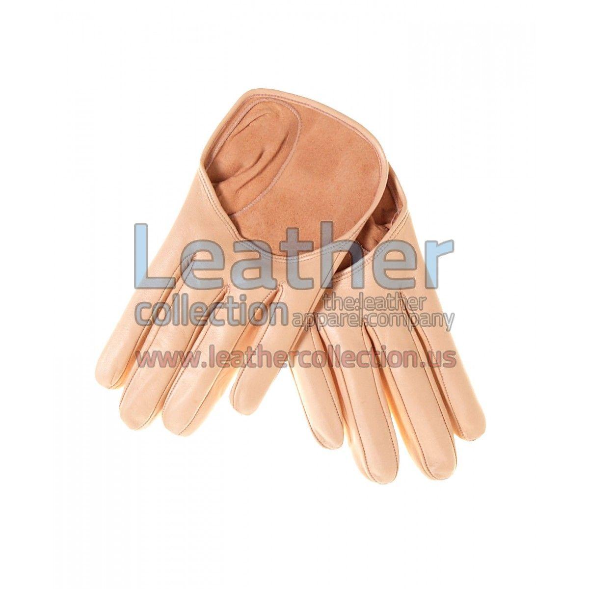 Beige Short Fashion Leather Gloves - https://www.leathercollection.us/en-we/beige-short-fashion-leather-gloves.html fashion leather gloves, short gloves #FashionLeatherGloves, #ShortGloves