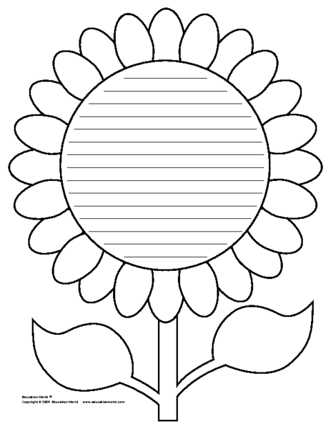 Education World Flower Shapebook Lined Template – Writing Template