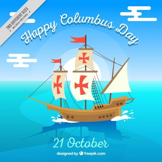Download Happy Columbus Day Background For Free Dia De La Hispanidad Vector De Fondo Dibujos Para Decorar Cuadernos