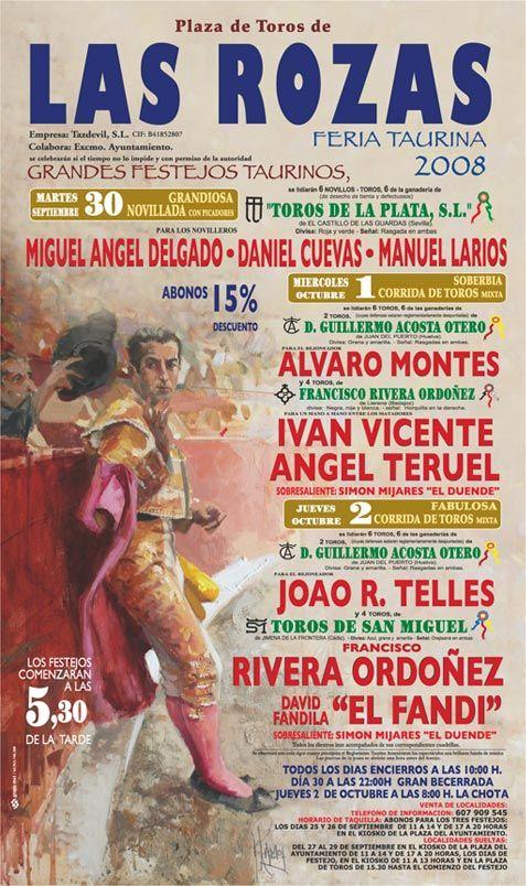 LAS ROZAS. MADRID. Cartel de la Feria Taurina 2008