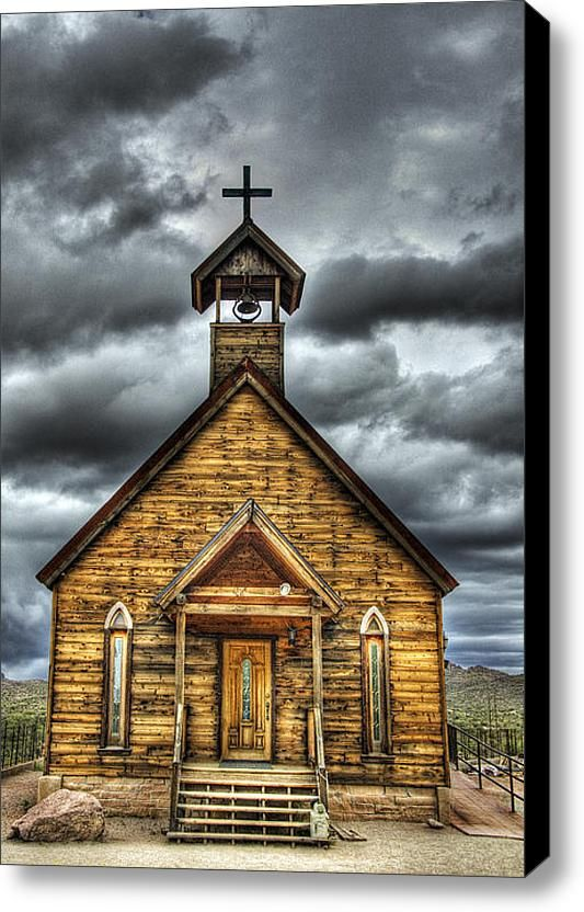 Goldfield Ghost Town Church On The Mount Stretched Canvas Print Canvas Art By Saija Lehtonen Goldfield Ghost Town Abandoned Churches Country Church