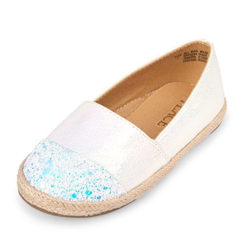 34825a8fc51 Girls Glitter Toe Holographic Espadrille Flats | Products in 2019 ...