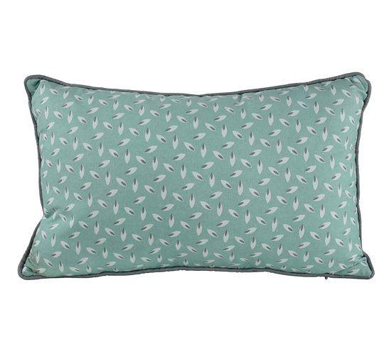 coussin 30x50 cm motif feuille gris vert stuff pinterest stuffing. Black Bedroom Furniture Sets. Home Design Ideas
