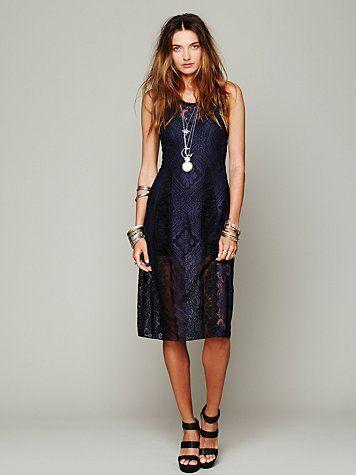 Free People Miracle Lace Midi Dress - $128
