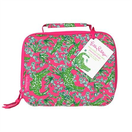 5bc7fe628216a8 See You Later Lunch Bag Lilly Pulitzer lunch box Cute for school lunches!  Monogrammed lunch box. Girly!
