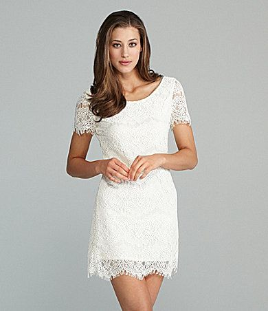 Lovemarks White Lace Dress | Dillards.com $78 | Bridal Accessories ...