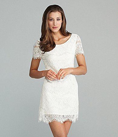 Lovemarks White Lace Dress | Dillards.com $78 | Bridal Accessories ...