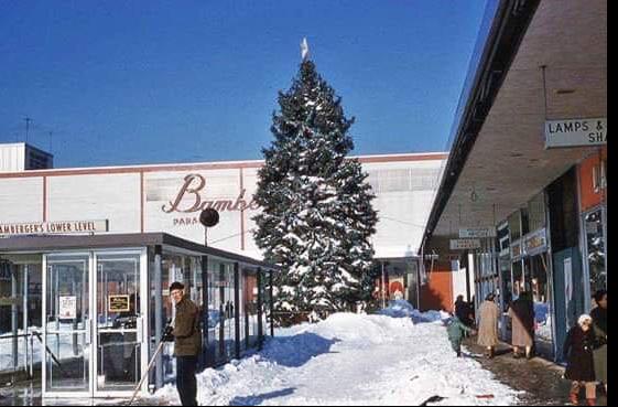 The Garden State Plaza, Paramus, NJ Christmas 1960's