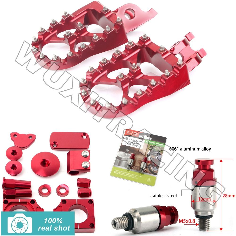 fit for Honda CRF 450 09 10 11 12 13 14 15 RED New CNC MX