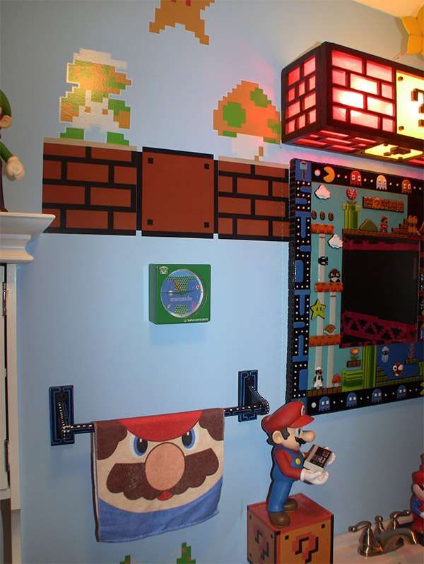Bathroom Design Games 67 Geeky Gamer Furnishings  Gaming Retro Games And Geek Stuff