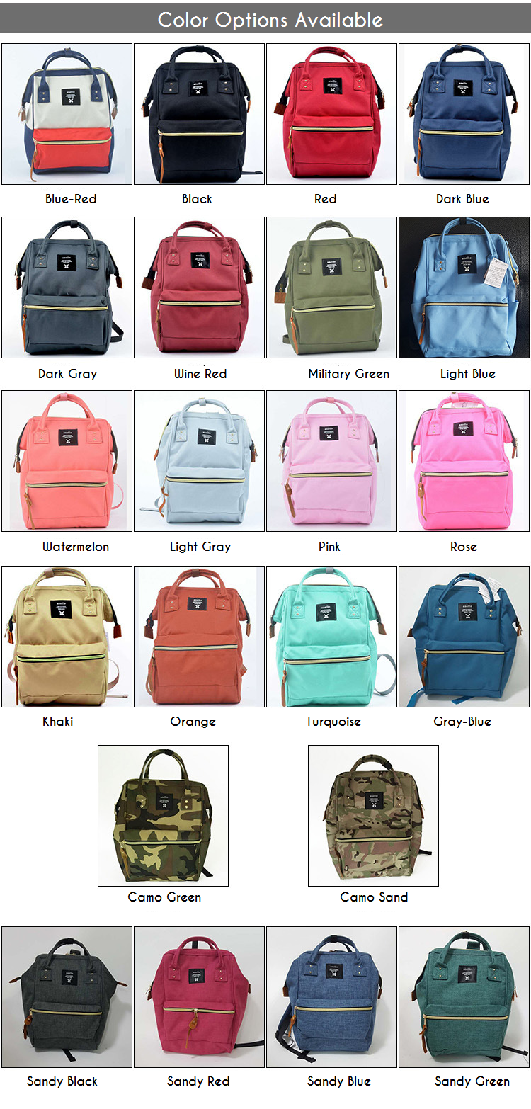 1eb8ccd3c6 Backpacks for men and women. Multi colors, multi sizes. Anello backpacks  from Japan are good for all seasons and perfect for travel, work or school.