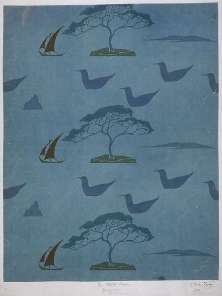 The Shallop   Voysey   V&A Search the Collections 1901, ducks and sailing boats