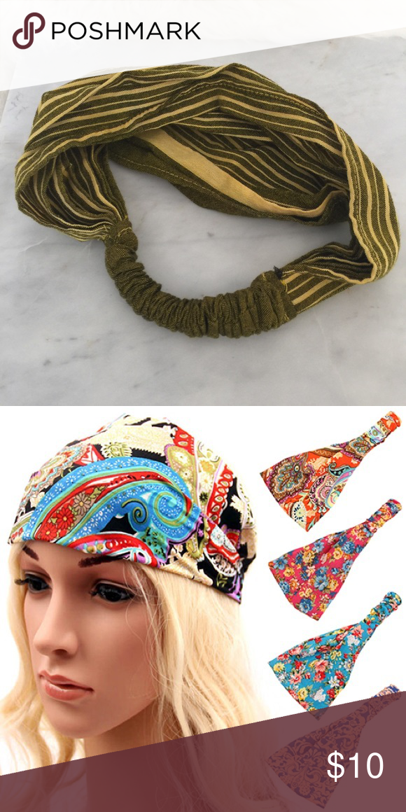 head scarf wrap with elastic Perfect for working out travel or anytime to  just keep your hair back. Bought in Thailand. Worn maybe twice. e45a149d6ec6