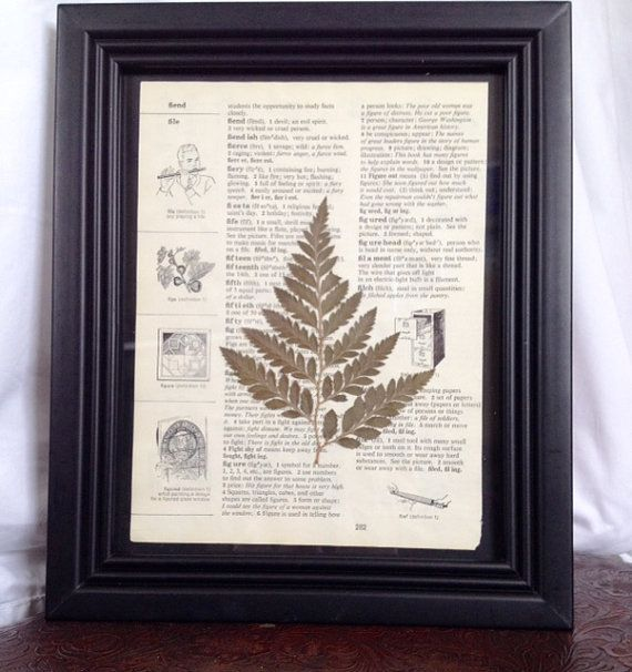 Black Framed Fern by TheCraftedButterfly on Etsy $10
