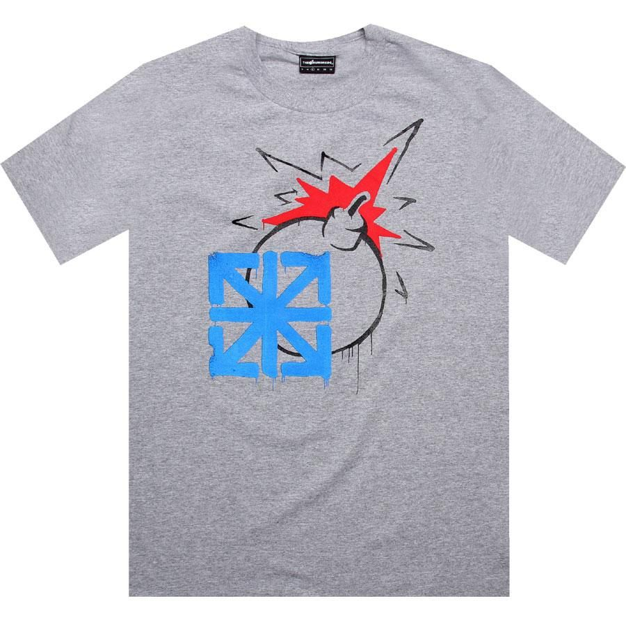 The Hundreds x Seventh Letter Originals tee in athletic heather