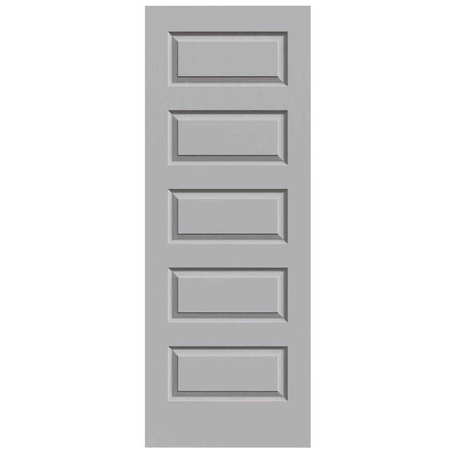 Jeld Wen Driftwood Solid Core 5 Panel Equal Slab Interior Door Common 32 In X 80 In Actual 32 In X 80 In Slab Door Jeld Wen Reliabilt