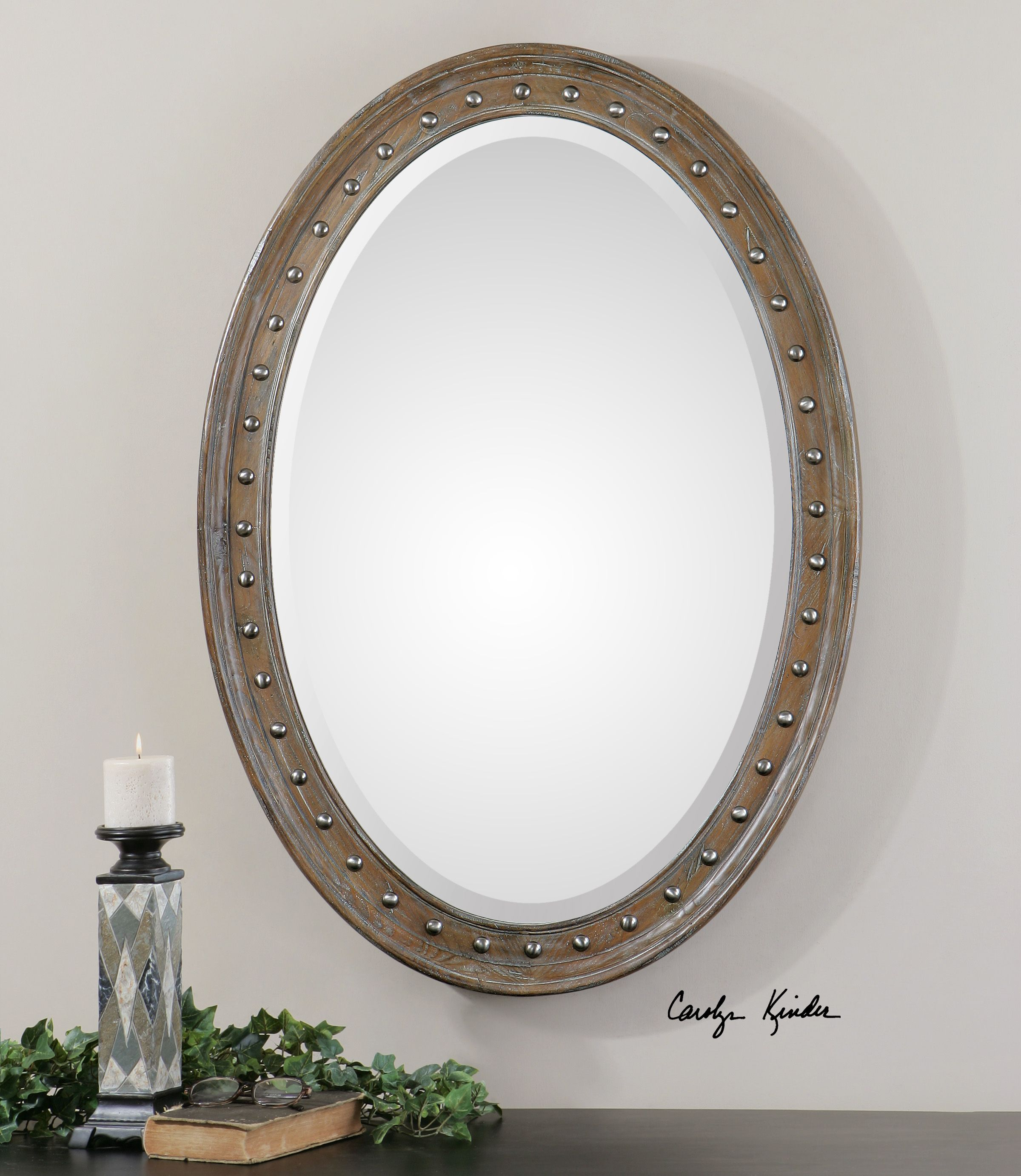 Uttermost Sylvana Oval Mirror | bathrooms | Pinterest | Foyers