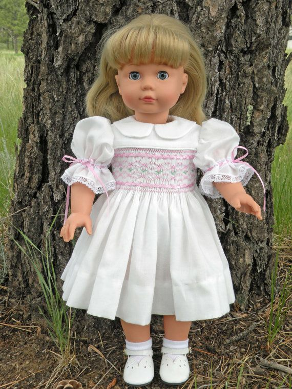Doll Dress Pattern Kaela features smocking - fits 18 Inch American ...